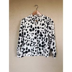 VINTAGE Dalmatian cow print pullover sweater top